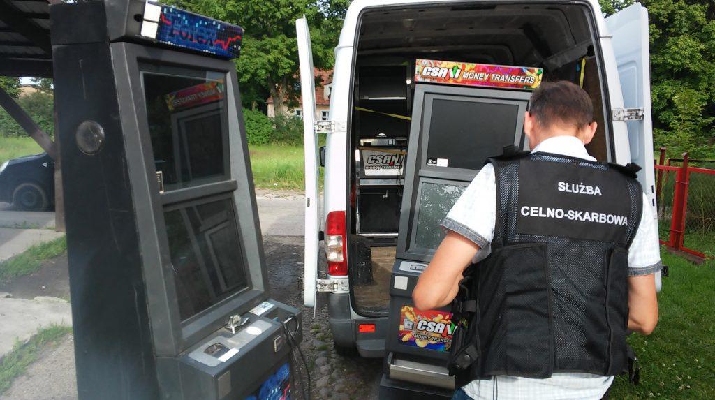 nielegalne automaty zatrzymane podczas kontroli